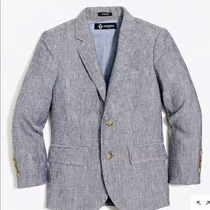NWT J Crew Boys Size 6-7 Thompson Suit Set linen